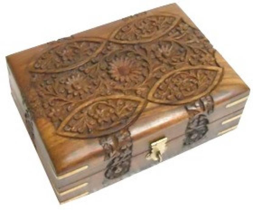 Pindia Box Wooden Gift Showpiece Wedding Indian Art Antique