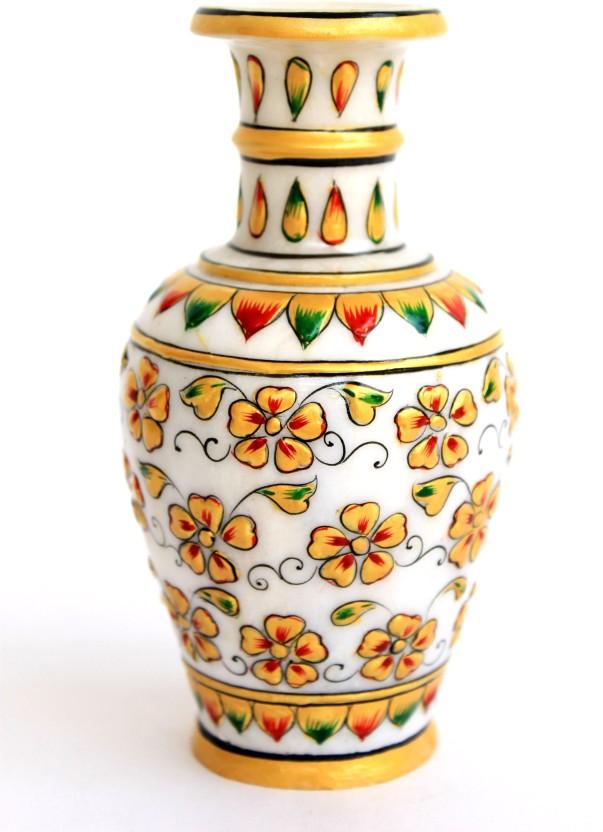 264 & Craft International Marble Flower Pot Painted - 3 Stoneware ...