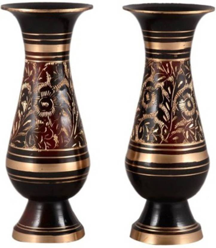 Homestyle India Handcrafted Pair Brass Vase Price In India Buy