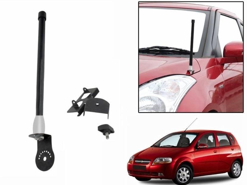 Sdwav Car Front and Rear Stylish Black-Chevrolet Aveo UVA Whip ... on chevrolet cruze, chevrolet tavera, chevrolet 2012 chevy equinox, chevrolet 2014 chevy impala, chevrolet models and prices,