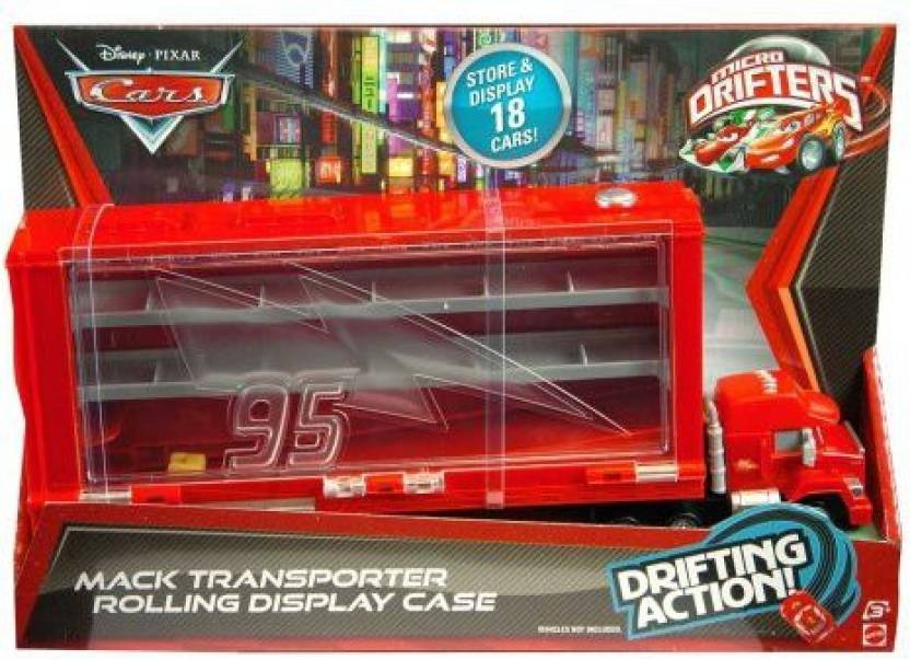 Mattel Cars Micro Drifters Mack Display Case Playset - Cars