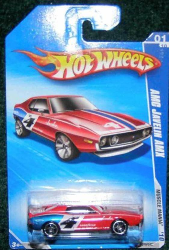 Hot Wheels 2010 Muscle Mania 01/10 Red Amc Javelin Amx - 2010 Muscle