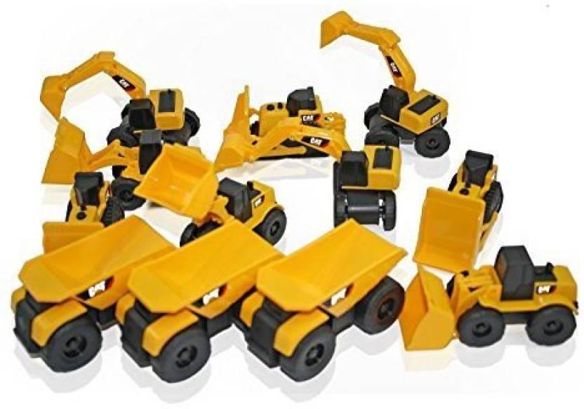 Toy State Cat Caterpillar Construction Toys Mini Machine Set Of 12