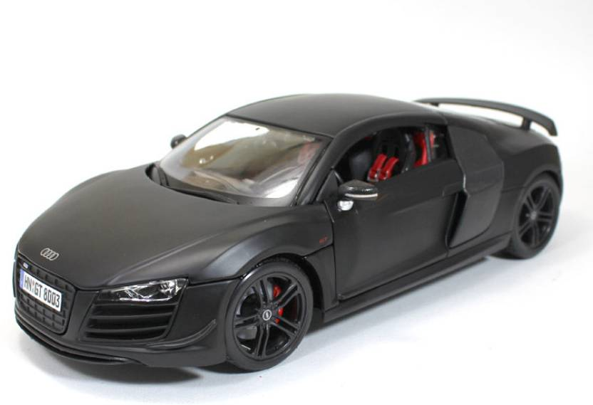 Maisto Audi R GT Matte Black By Car Scale Model Audi R GT - Audi r8 black