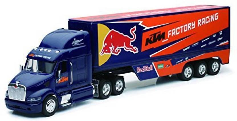 Team Ray Trucks >> New Ray Peterbilt Ktm Factory Racing Team Truck Red Bull