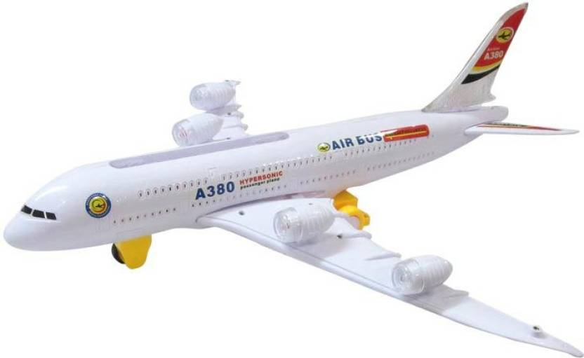 DCS Air Bus A380 Kids Action Airplane Toy, Biggest Model Plane With  Attractive Lights And Sounds