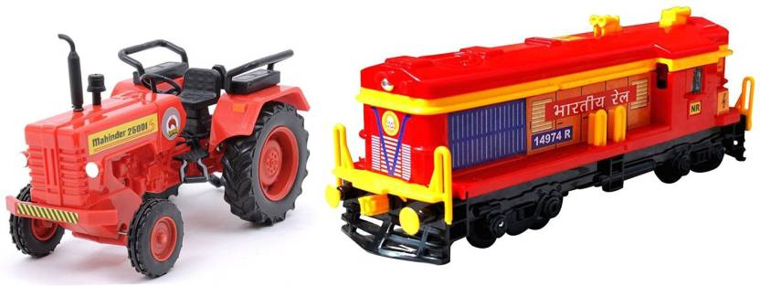 AR Enterprises set of Mahindra Tractor and Locomotive Engine