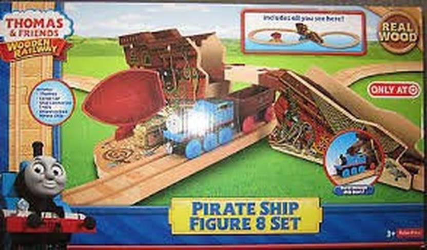 Fisher Price Train Wooden Railway Exclusive Pirate Ship Train