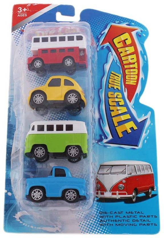 Tootpado Model Metal Toy Car With Pull Back Mechanism 1c397 Pack