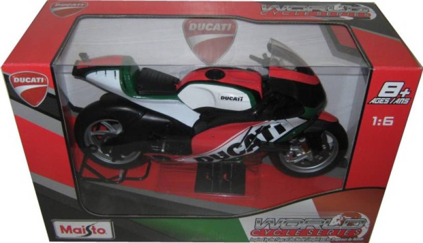 Maisto Ducati World Cycle Series Motogp Motorcycle Model 1 6 Red