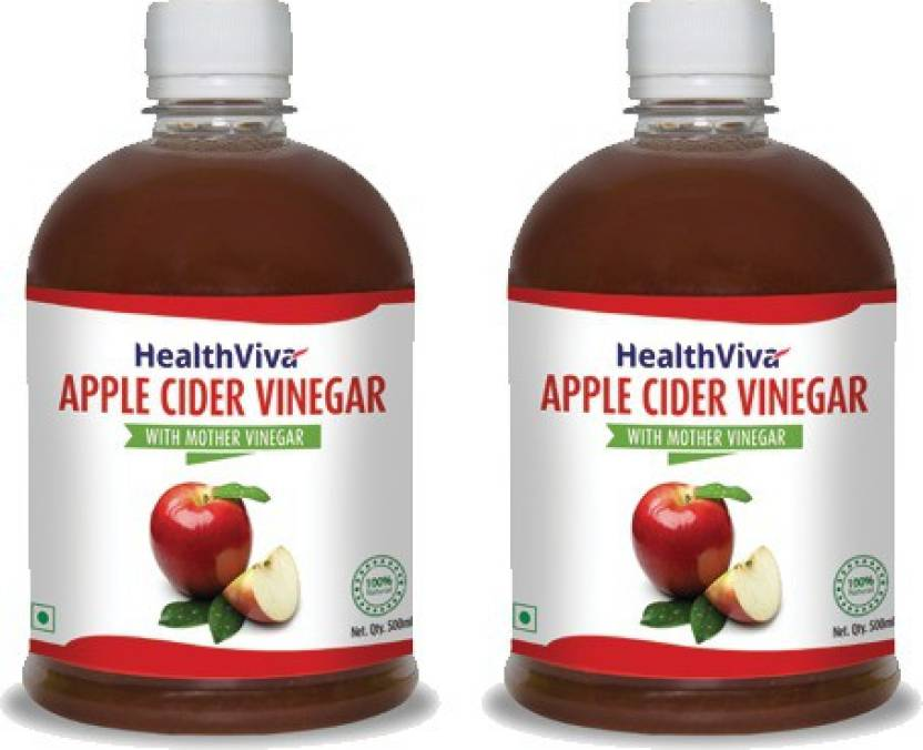 Upto 60% Off on Health & Nutrition By Flipkart | HealthViva Apple Cider Vinegar (With Mother Vinegar) Sports Drink  (500 ml Pack of 2) @ Rs.551