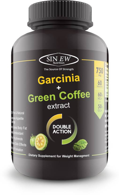 Sinew Nutrition Weight Loss Combo 750mg (Garcinia Cambogia & Green Coffee  Bean Extract) 60