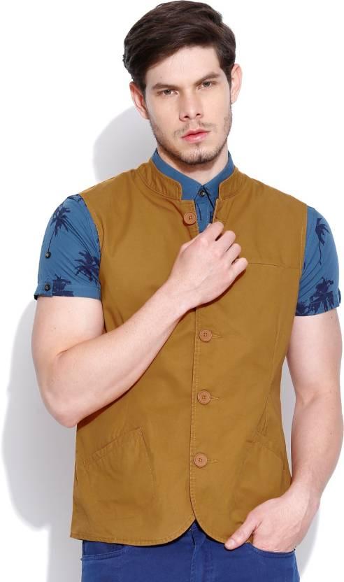 Men's Waistcoats By Flipkart   United Colors of Benetton Solid Men's Waistcoat @ Rs.1,049