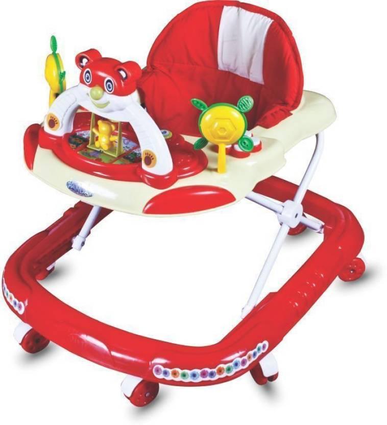 Panda Baby Adjustable Walker (Red)