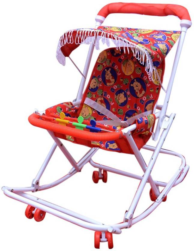 Abasr 2 IN 1 WALKER RED FOLDABLE