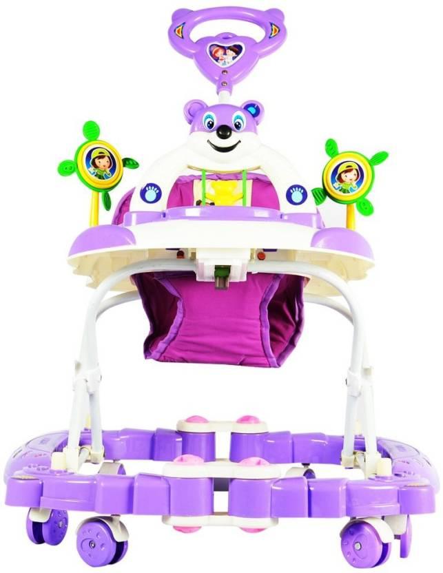 Panda Baby Walker Cum Rocker (Purple)