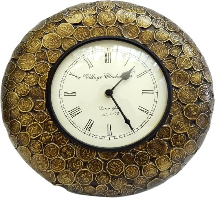 Indian Ethnic Gifts Analog 30 cm X 5 cm Wall Clock Price in