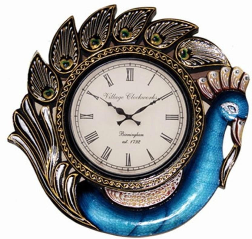 Ethnic India Art Analog Wall Clock Price in India Buy Ethnic India