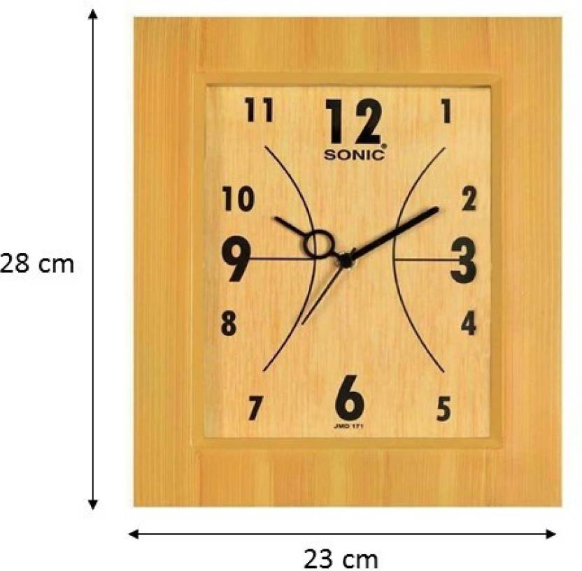 Sonic Analog Wall Clock Price In India Buy Sonic Analog Wall Clock