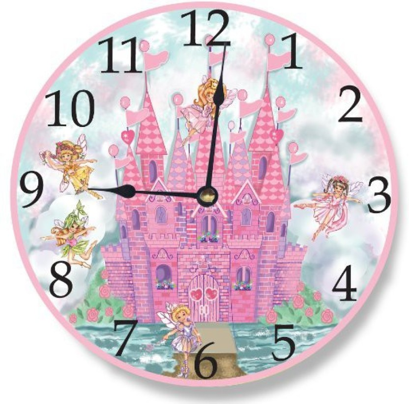 Wonderful The Kids Room By Stupell Analog 12 Cm X 12 Cm Wall Clock (Pink, Without  Glass)
