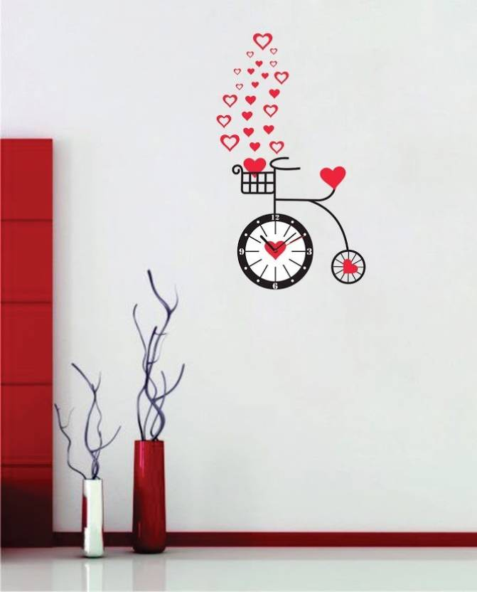 syga analog 90 cm x 30 cm wall clock price in india - buy syga