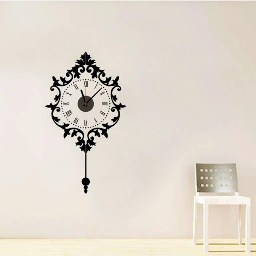 syga analog 64 cm x 36 cm wall clock price in india - buy syga