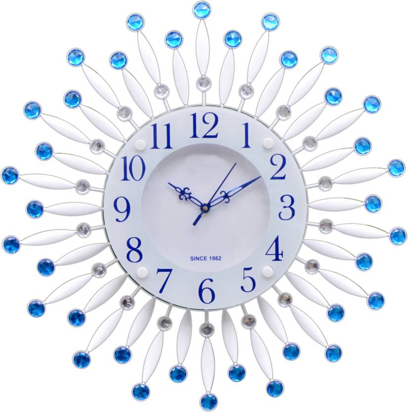 Wallace 211 Blue Metal Glass Designer Analog Wall Clock Price In