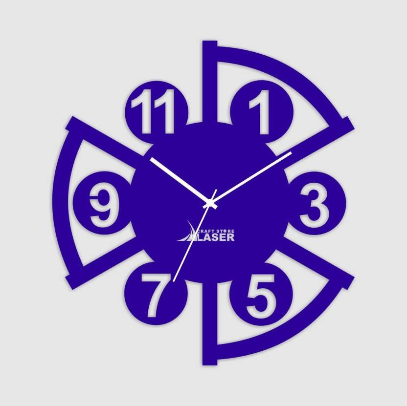 Laser Craft Store Analog Wall Clock Price In India Buy Laser Craft