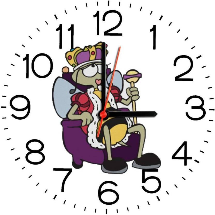 Elligifts Analog 23 cm Dia Wall Clock