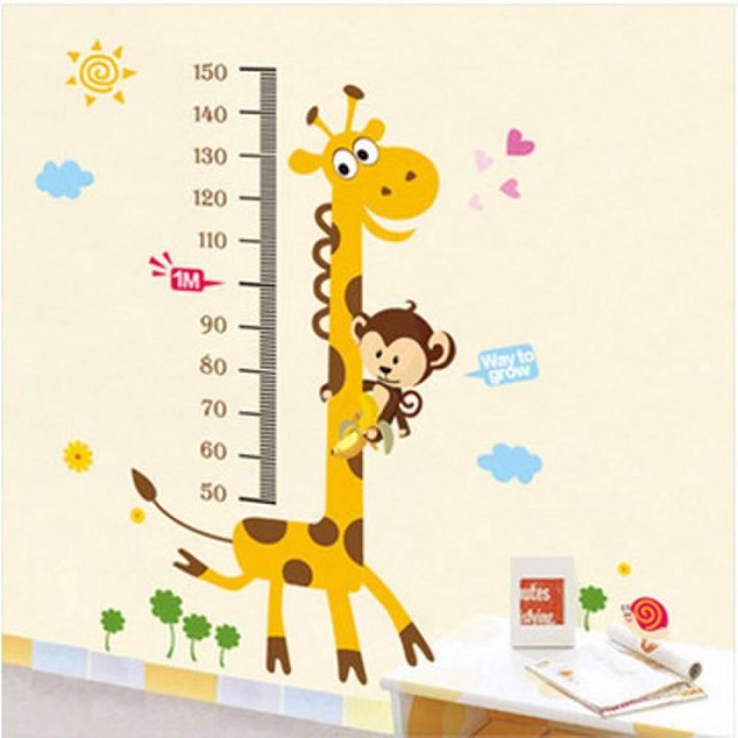 Happy Walls Cartoon Giraffe Growthheight Chart For Kids Room Price