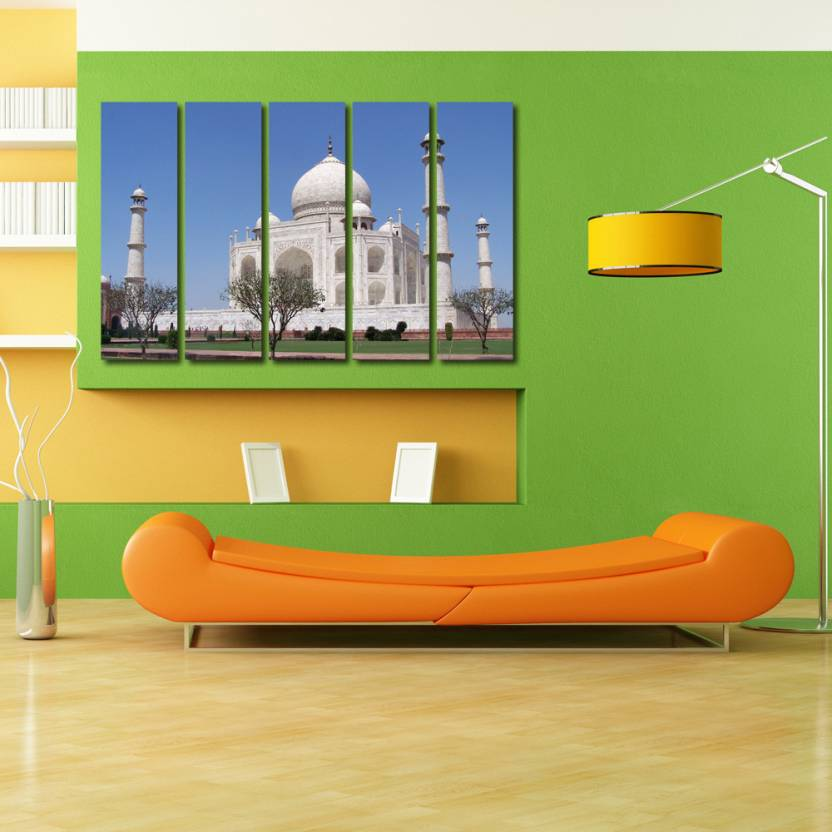 999 Store Multiple Frames Printed Taj Mahal Like Modern Wall Art
