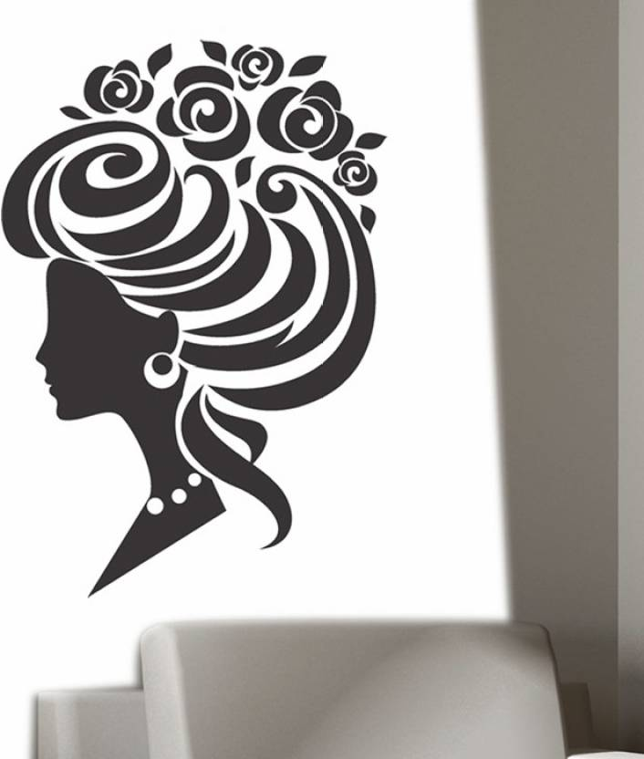 Happy Walls Princess With High Bun Hairstyle With Roses Vector Art