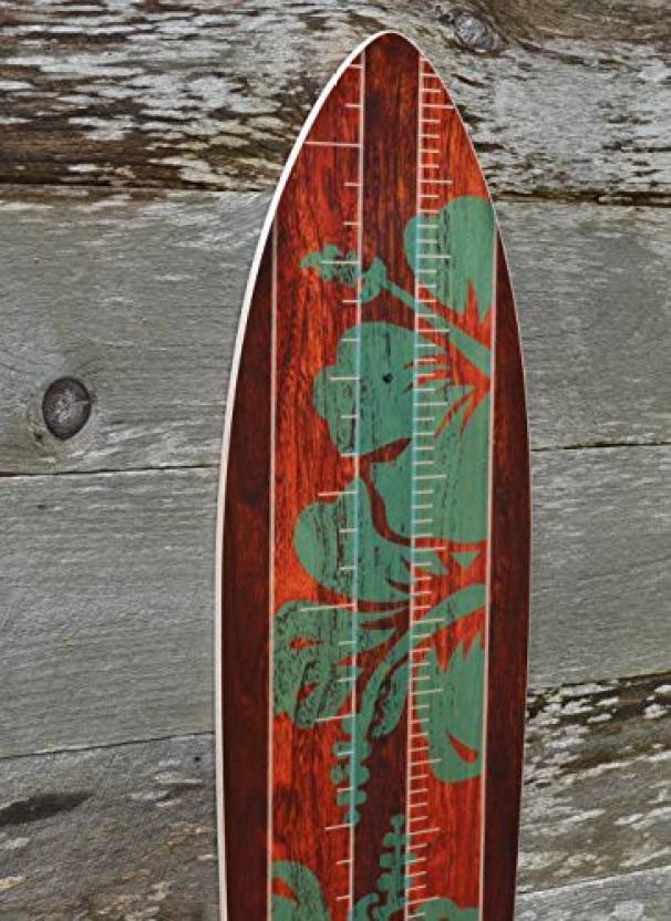Growth Chart Art Vintage Surfboard Wooden Height Chart For Kids