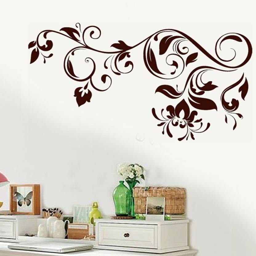 happy walls floral vines in henna pattern vector art price in india