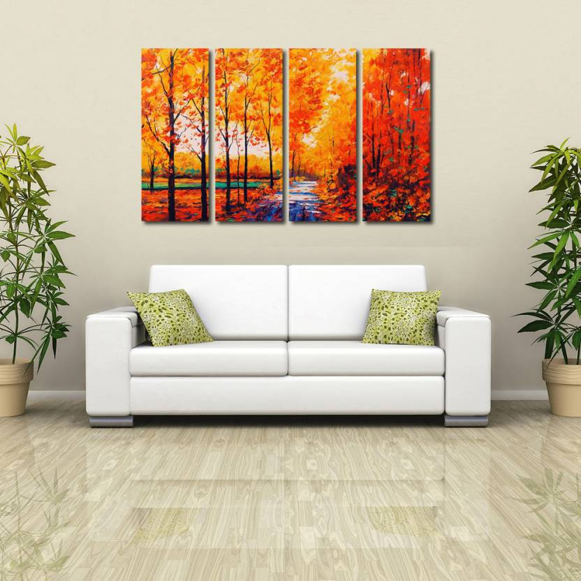999 Store Multiple Frames Printed Water Falls At Tree Like Modern