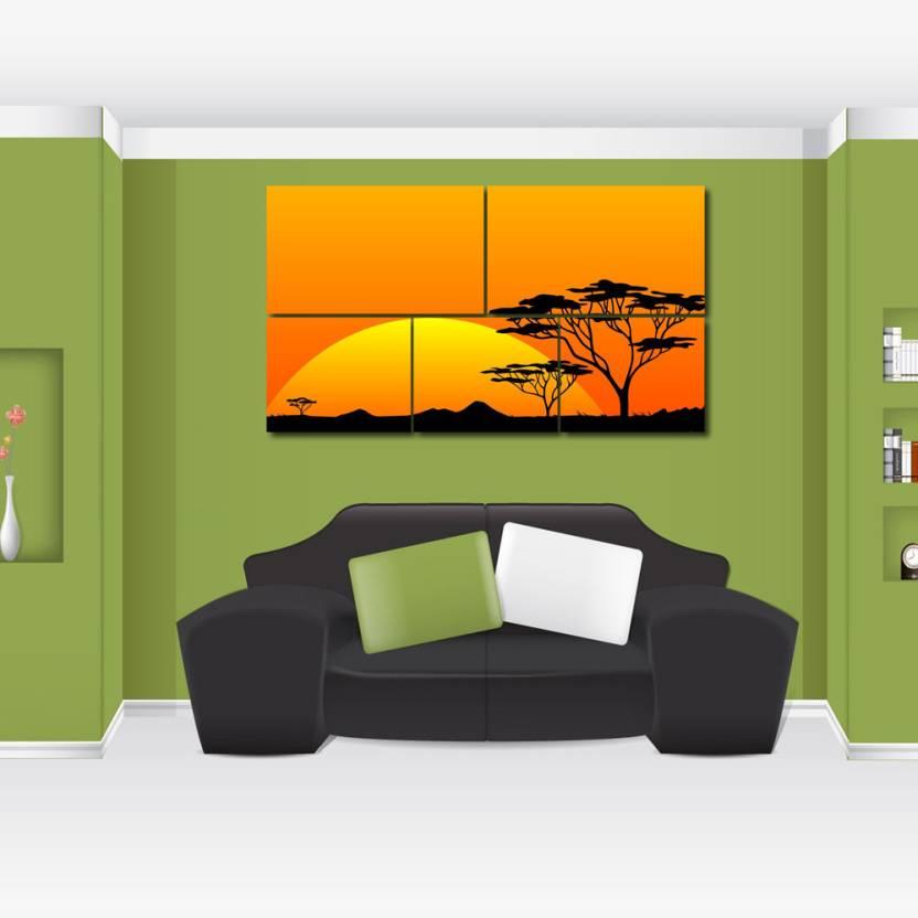 999 Store Multiple Frames Printed Sunrise like Modern Wall Art ...