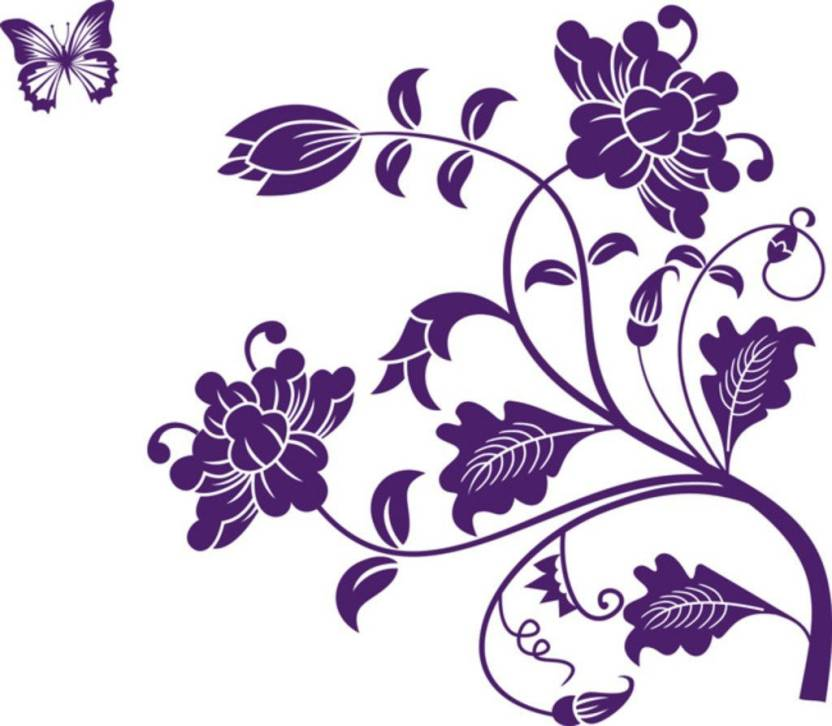 deacbb7ab7 Happy walls Purple Flower Floral Vines Price in India - Buy Happy ...