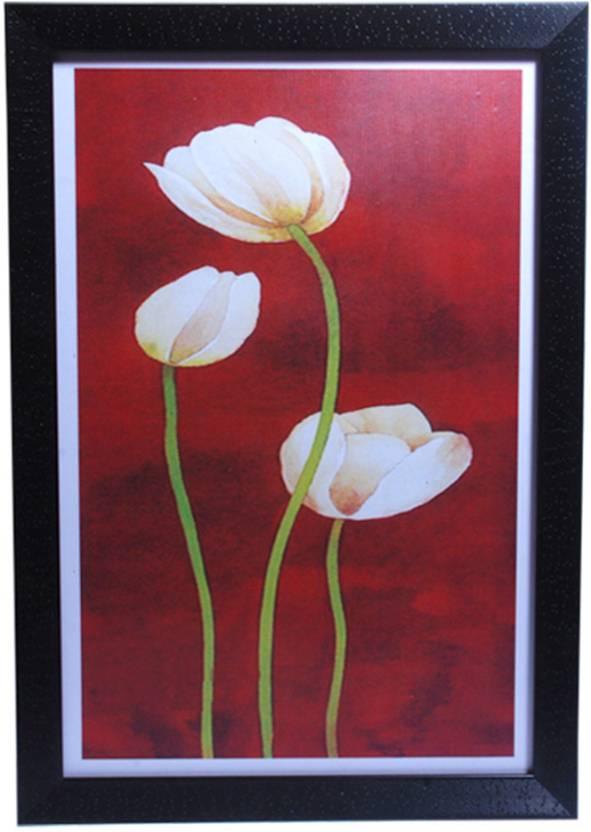 Hrinkar Flower Wall Decor Printed Photo Size 12 W X 18 H Inch