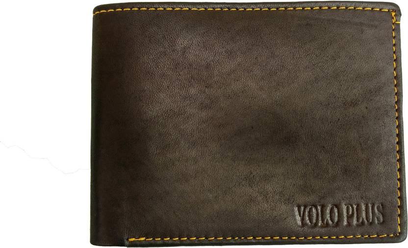 competitive price 7fdd8 c6bf7 Volvo Plus Men Black Genuine Leather Wallet (6 Card Slots)