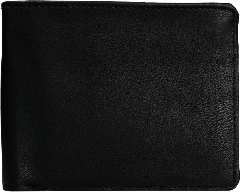 Exotique Men Black Genuine Leather Wallet