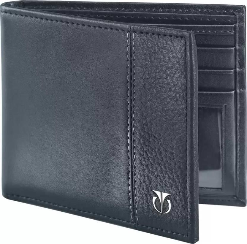 Titan Men Casual Black Genuine Leather Wallet