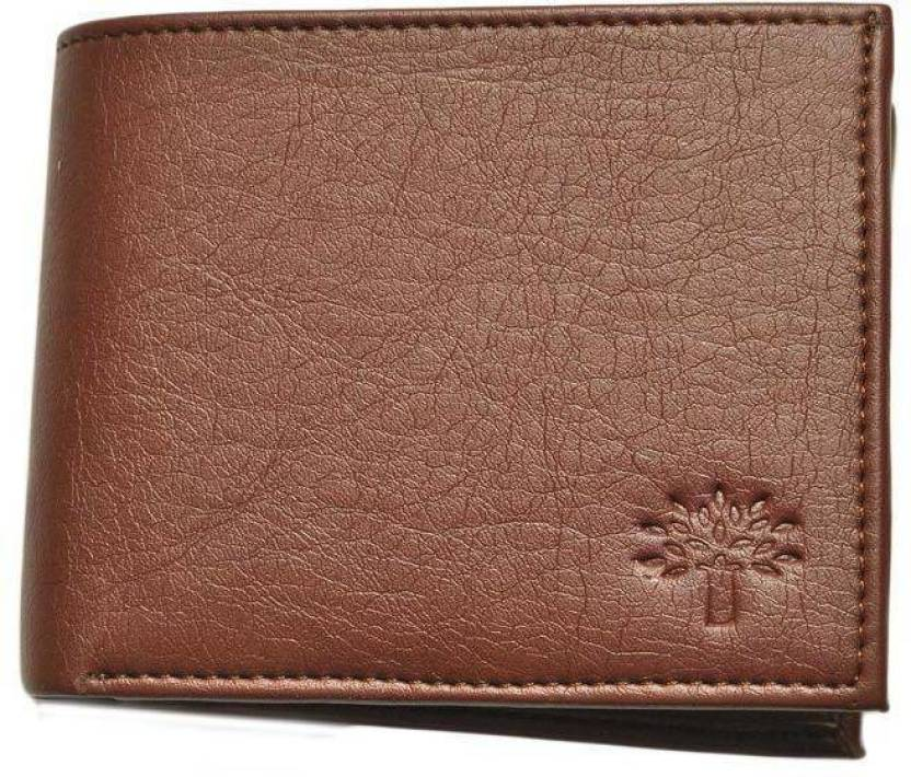 Devfabrication Boys Brown Genuine Leather Wallet