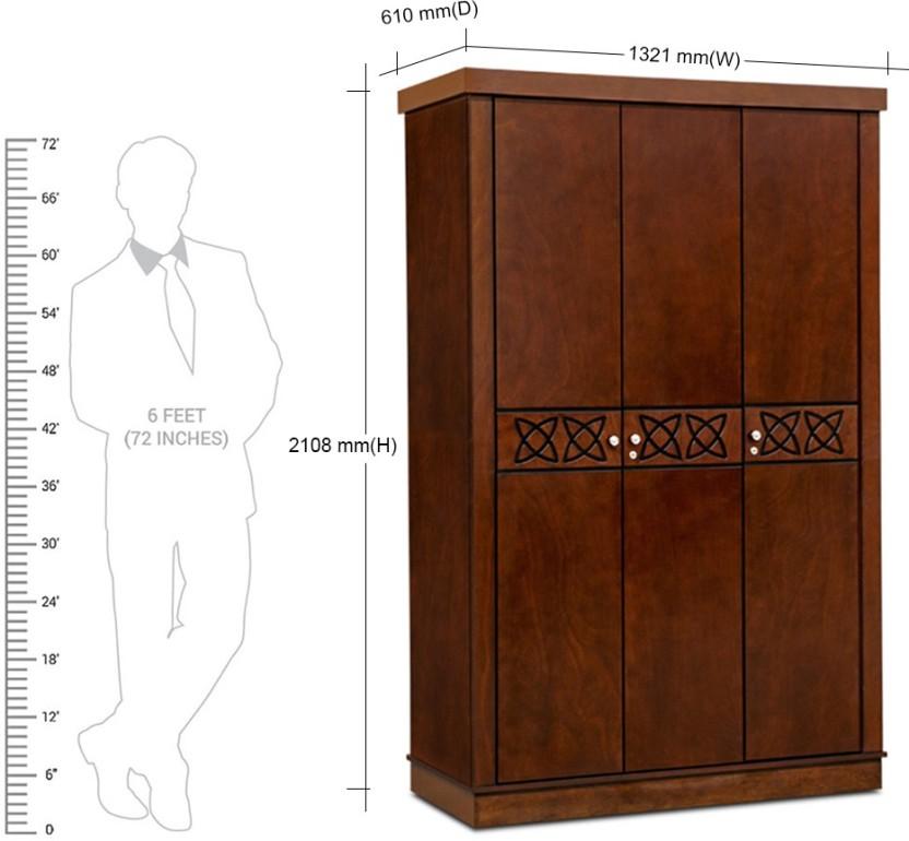 Ordinaire HomeTown Astra Solid Wood 3 Door Wardrobe