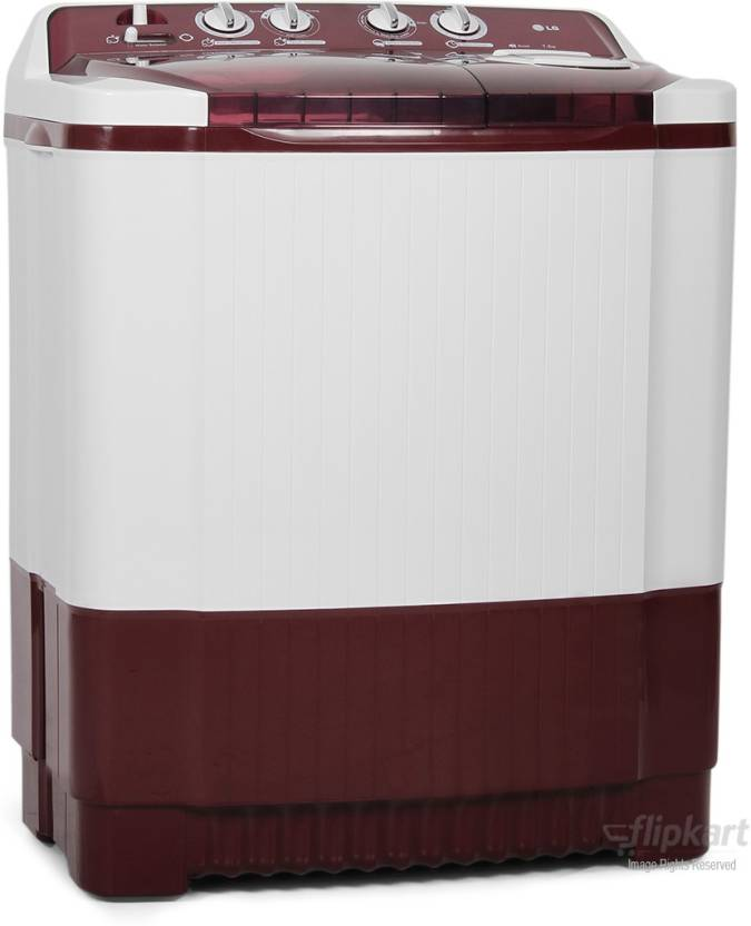 LG 7.2 kg Semi Automatic Top Load Washing Machine Red