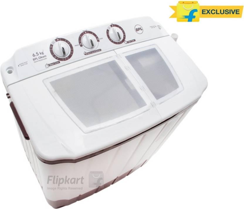 BPL 6.5 kg Semi Automatic Top Load Washing Machine  (BSATL65N1) By Flipkart @ Rs.6,489