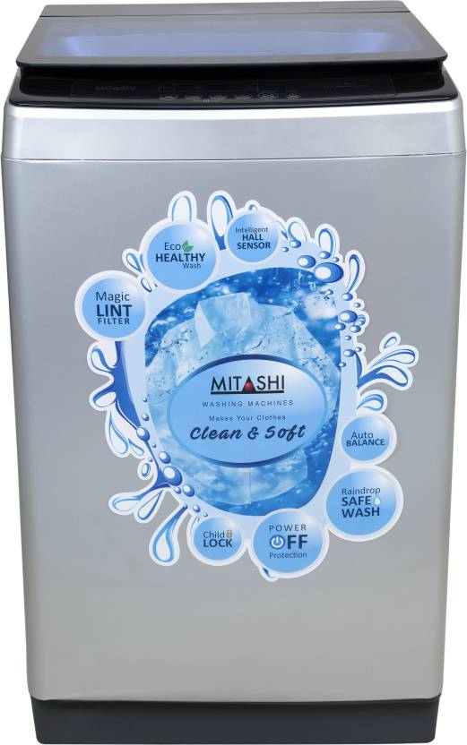 Mitashi 7.8 kg Fully Automatic Top Load Washing Machine Grey