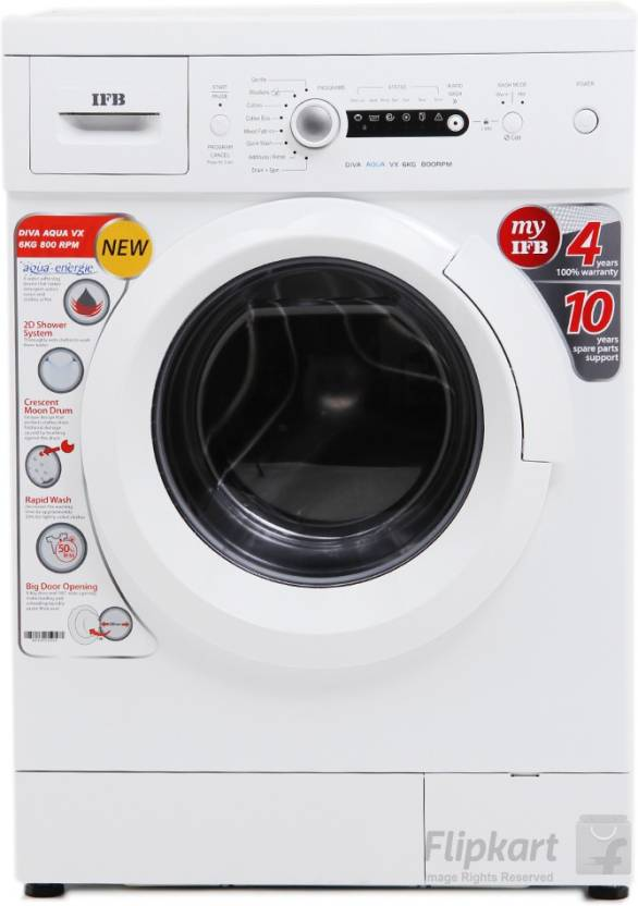 IFB 6 kg Fully Automatic Front Load Washing Machine White  (Diva Aqua VX)-14% OFF