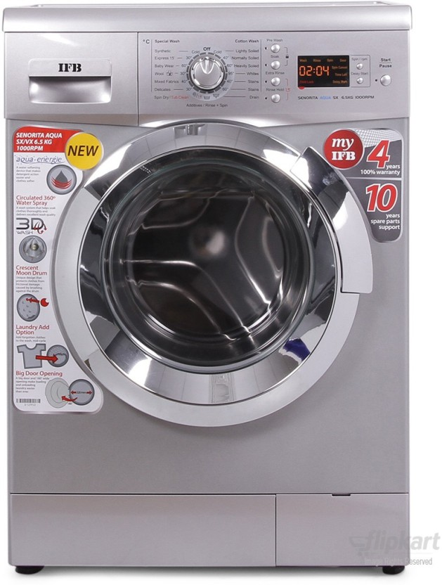Awesome Ifb Front Door Washing Machine Part - 2: IFB 6.5 Kg Fully Automatic Front Load Washing Machine Silver