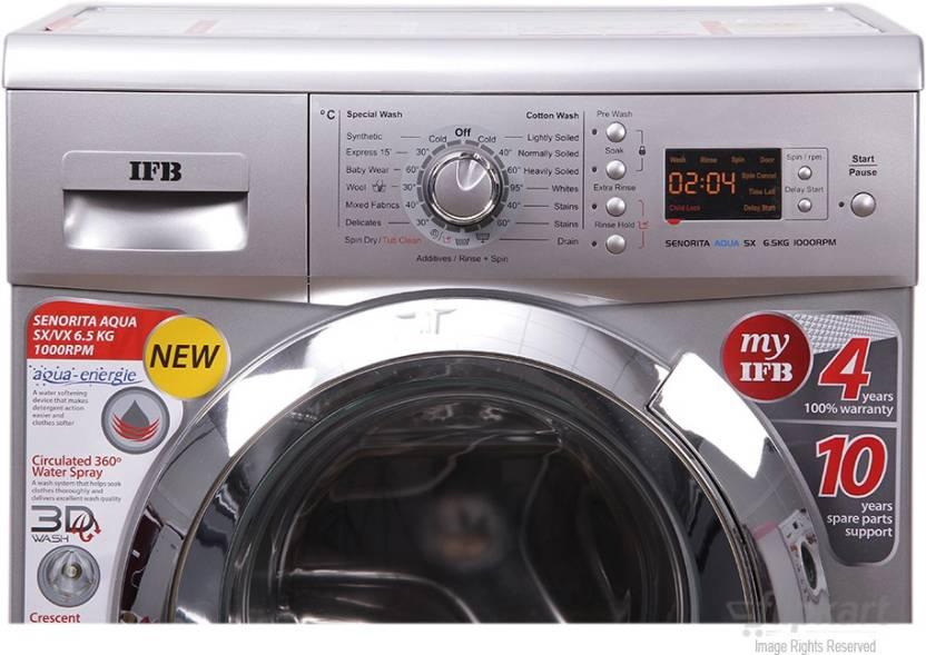 IFB 6.5 kg Fully Automatic Front Load Washing Machine Silver Senorita Aqua SX   6.5 KG  IFB Washing Machines