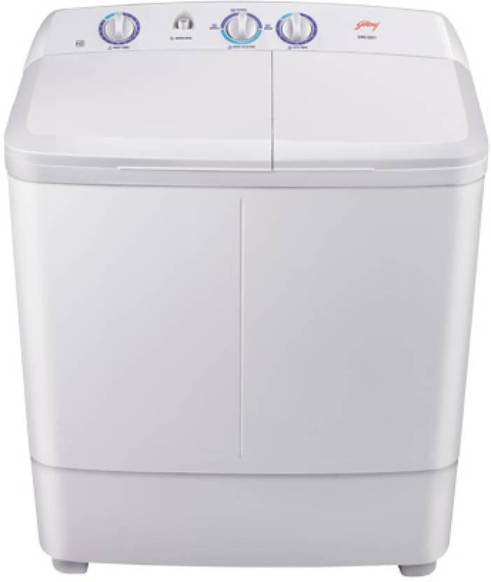 godrej gws 6201 semi-automatic 6 2 kg washer dryer (light grey)